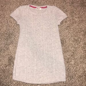 H&M cable knit sweater dress